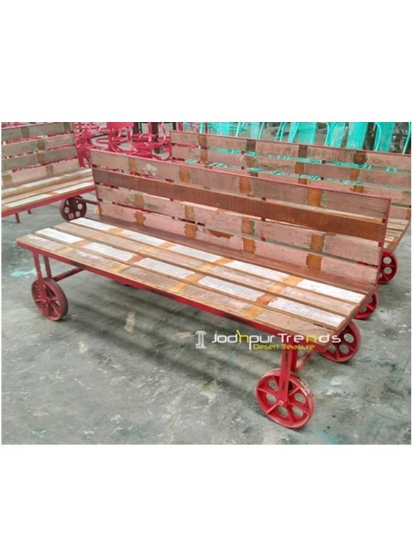 Long Sofa Bench Real Wood Furniture Online