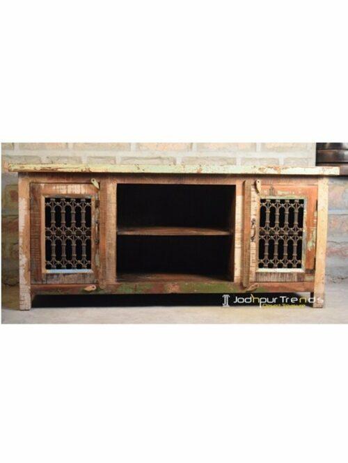 Metal Jali Reclaimed TVC India Furniture Company
