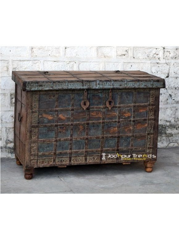 Old Antique Trunk Distressed Furniture India