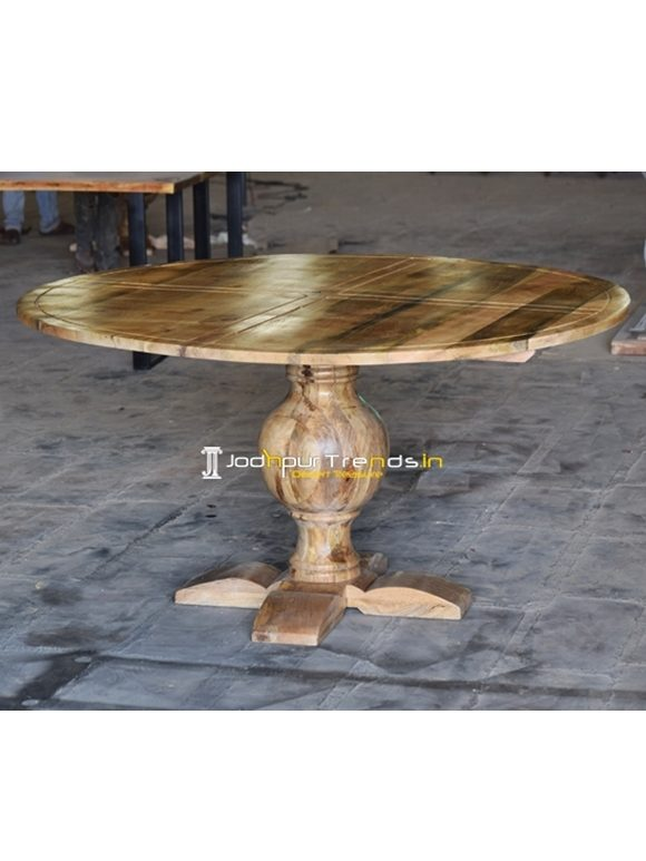 Pedestal Round Table Wooden Dining Furniture