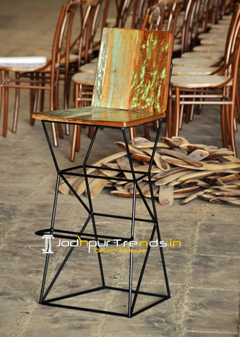 Reclaimed Counter Stool Wooden Handicrafts Exporters