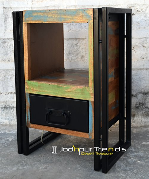 Reclaimed Night Stand Indian Teak Furniture