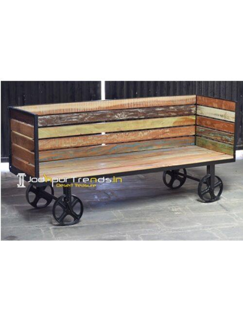 Recycled Bench Indian Teak Wood Furniture