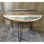 Round Reclaimed Table Coffee Shop Tables