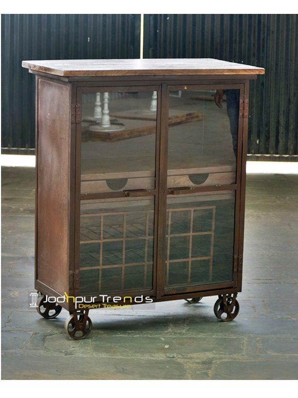 Rustic Bar Cabinet Best Industrial Furniture