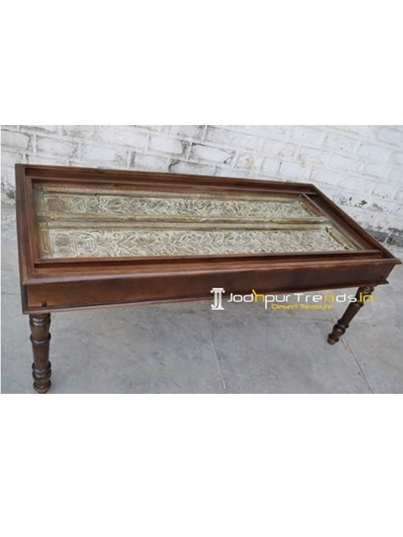 Wooden Old Door Table Rustic Dining Table India