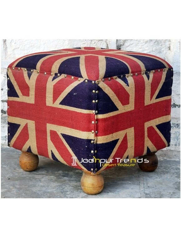 Flat Foot Stool Upholstered Furniture Manufacturer