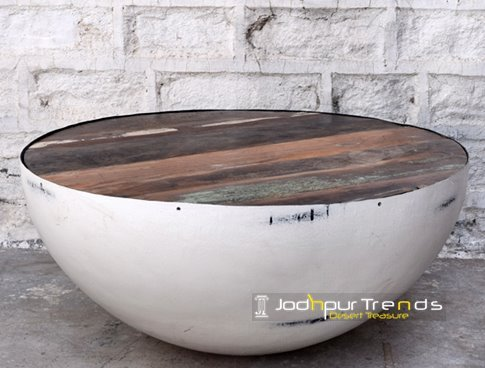 Round Metal Designer Center Table