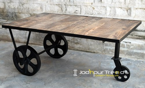 Cast Iron Mango Ruff Wood Center Furniture Design
