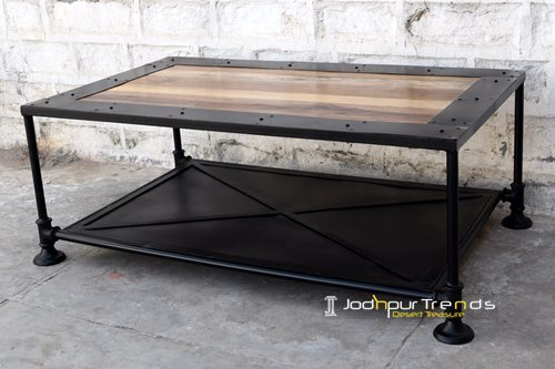 Factory Inspire Metal Industrial Coffee Table Design
