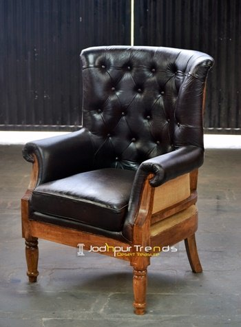 Raw Structure Off Leather Tufted Manufacture Sofa