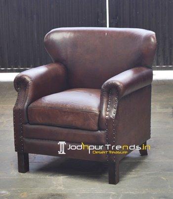 Round Arm Leather Hospitality Sofa Furniture