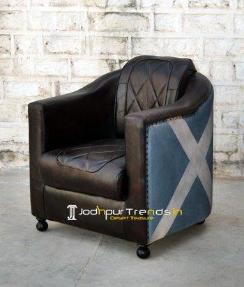Printed Canvas Leather Supplier Choice Sofa Design