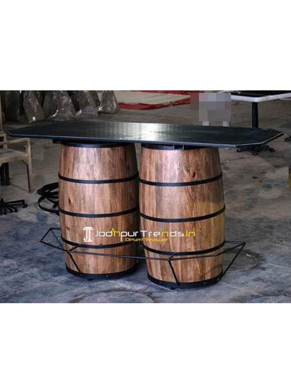 Industrial Barrel Inspire Counter Bar Table