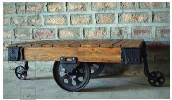 Industrial Cart Designer Coffee Table