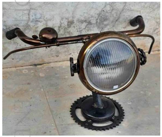 Industrial Cycle Handlebar Lamp