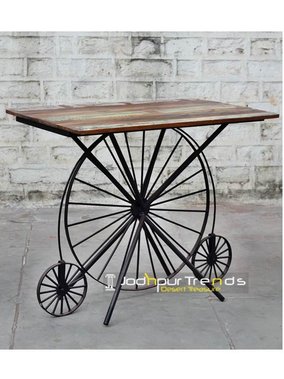 Industrial Wheel Bar Table Funky Furniture