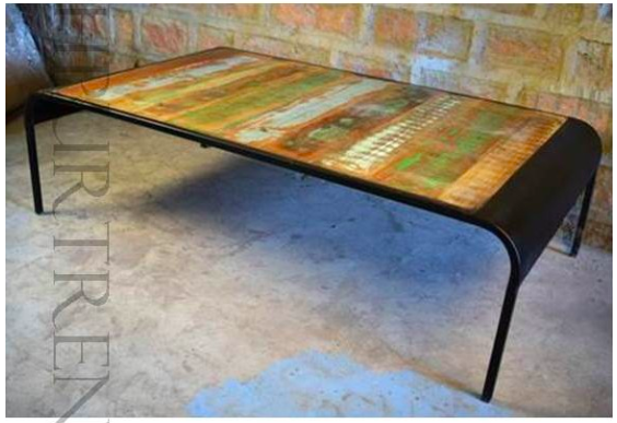 Reclaimed Coffee Table Industrial Designed