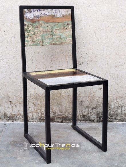 Reclaimed Wood Restaurant Industrial Chair