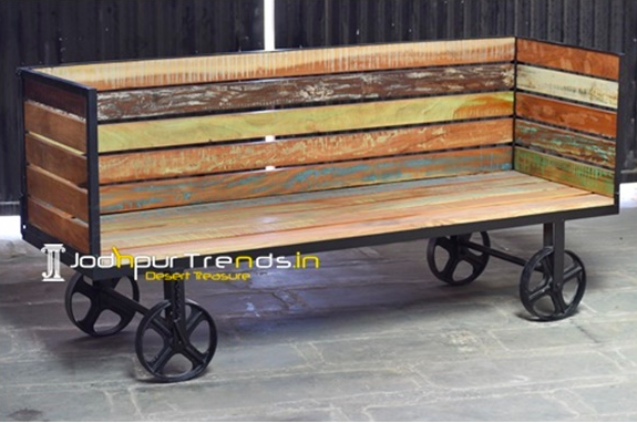 Teak Wood Furniture Indian Industrial Benches