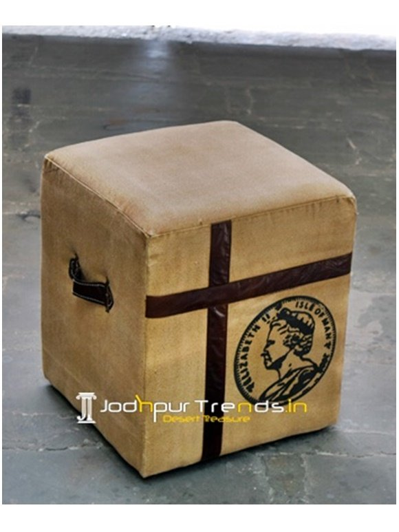 Tufted Pouf Stool Bespoke Restaurant Furniture