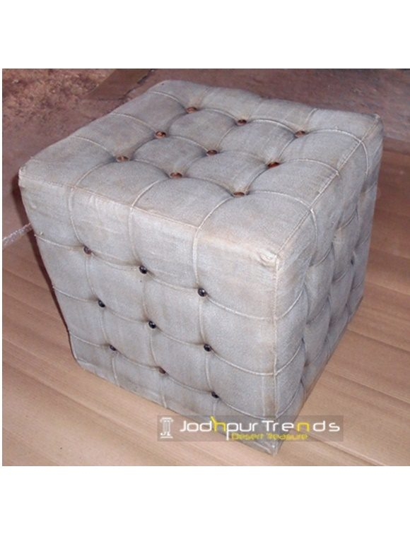 Tufted Pouf Stool Cafe Chair Manufacturer
