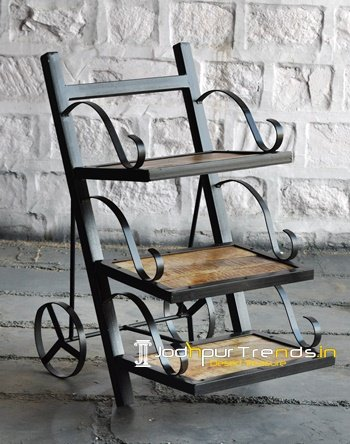 Wrought Iron Bedside Industrial Furniture