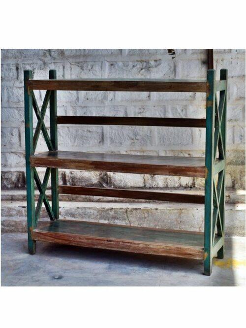 Green Distress Original Antique Display Unit