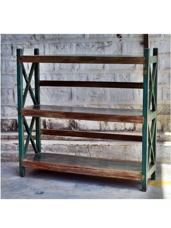 Green Distress Original Antique Display Unit