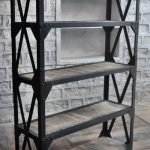Cross Pattern Indian Industrial Bookcase Unit