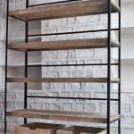 Distress Solid Wood Showroom Display Unit