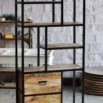 Mango Wood Metal Storage Display Unit Furniture