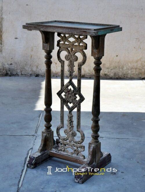 Antique Reproduction Pedestal Table Furniture