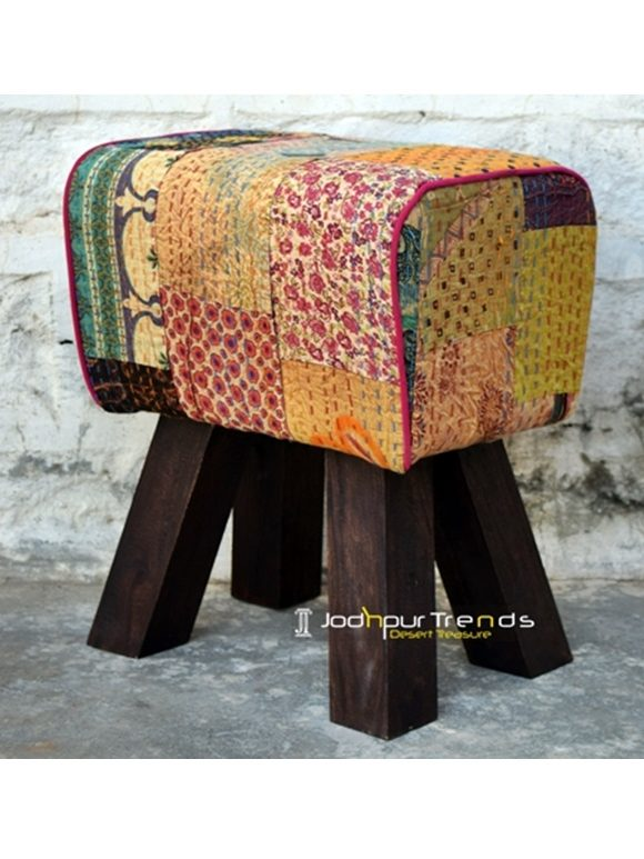 Gudri Rajasthan Patch Work Traditional Foot Stool