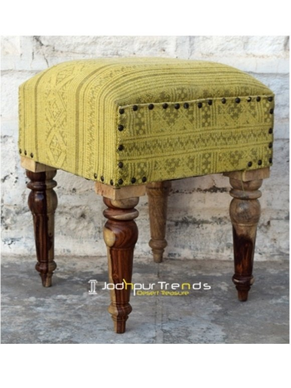 Patchwork Fabric Designer Resort Room Pouf