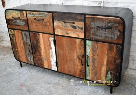 Handcrafted Jodhpur Design Painted Cabinet