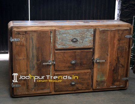 Jodhpur Recycled Wood Indian Cabinet
