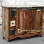 Old Antique Wood Cabinet Furniture