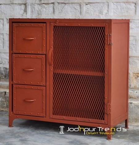 Metal Mesh Country Inspire Retro Cabinet