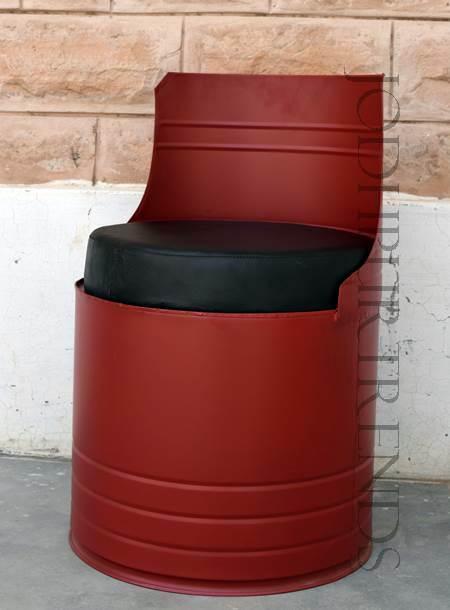 Industrial furniture barrel drum chair designs