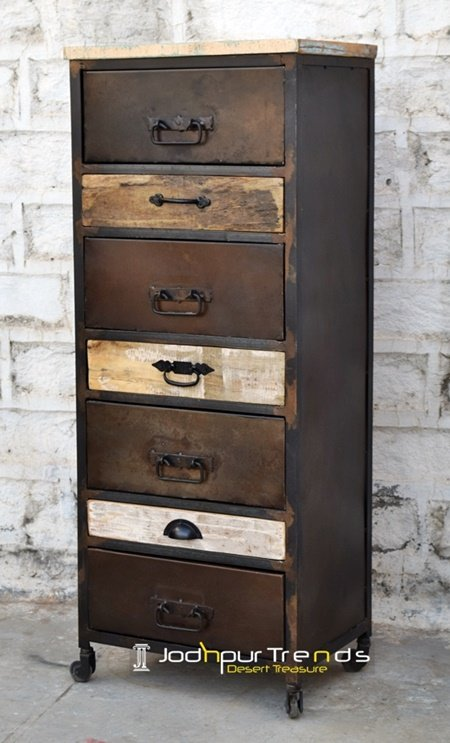 Rustic Design Long Commercial Cabinet