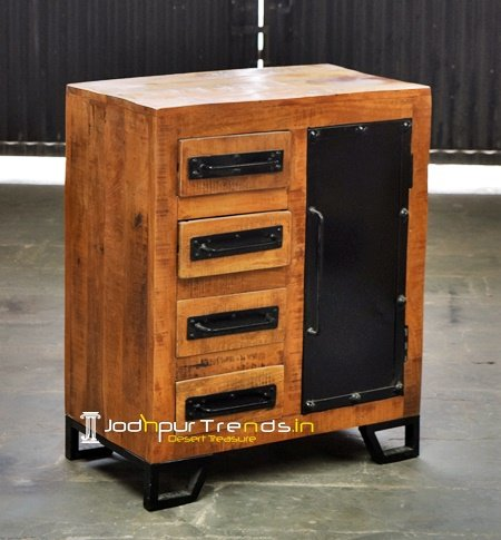 Industrial Living Room Small Cabinet