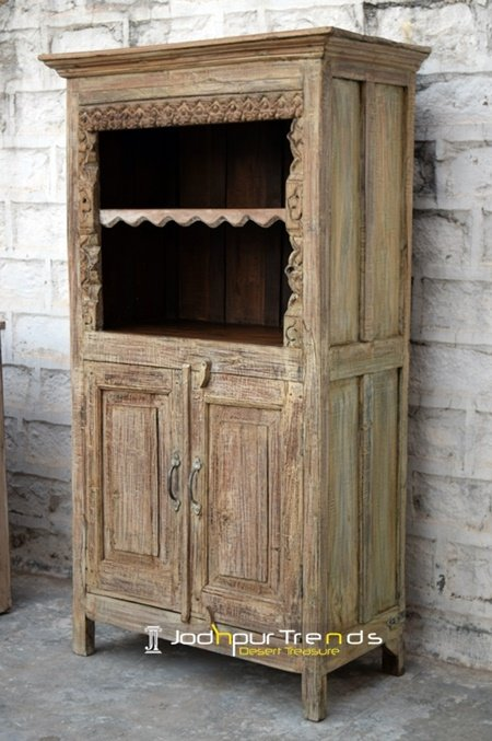 Old Wood Distress Wine Bar Cabinet Furniture