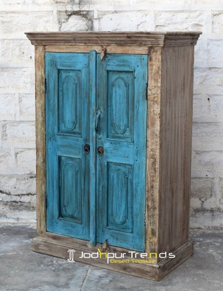 Old Panel Recycled Wood Painted Cabinet Furniture