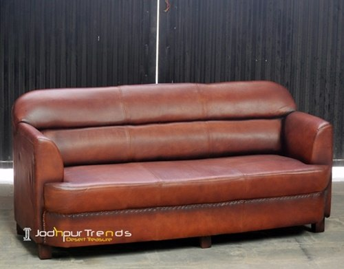 Jodhpur Indian Handcrafted Leather Sofa Furniture