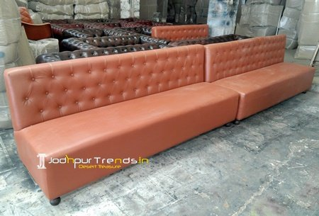 Long Leather Handcrafted Leather Sofa Design