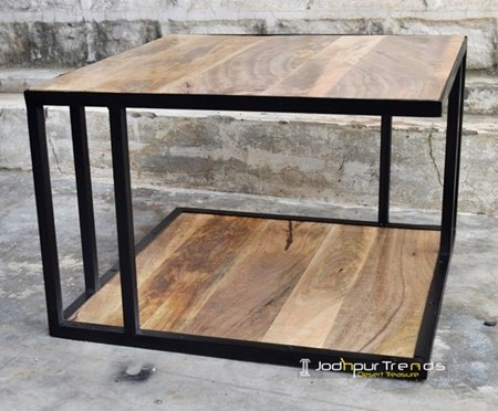 Industrial Rustic Metal Coffee Table Furniture