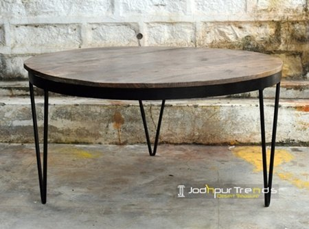 Solid Iron Mango Wood Modern Industrial Furniture