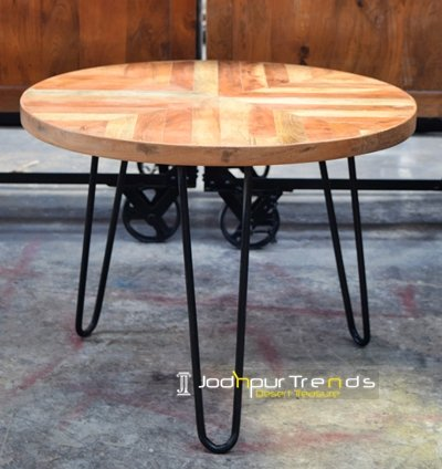Natural Solid Acacia Wood Center Table Furniture