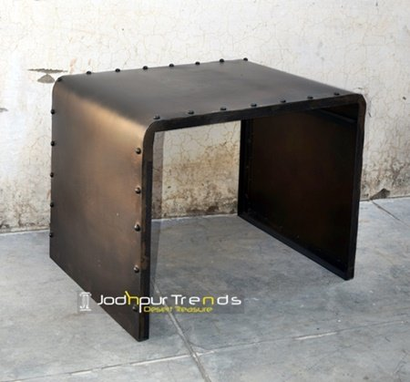 Bent Metal Industrial Iron Table Furniture